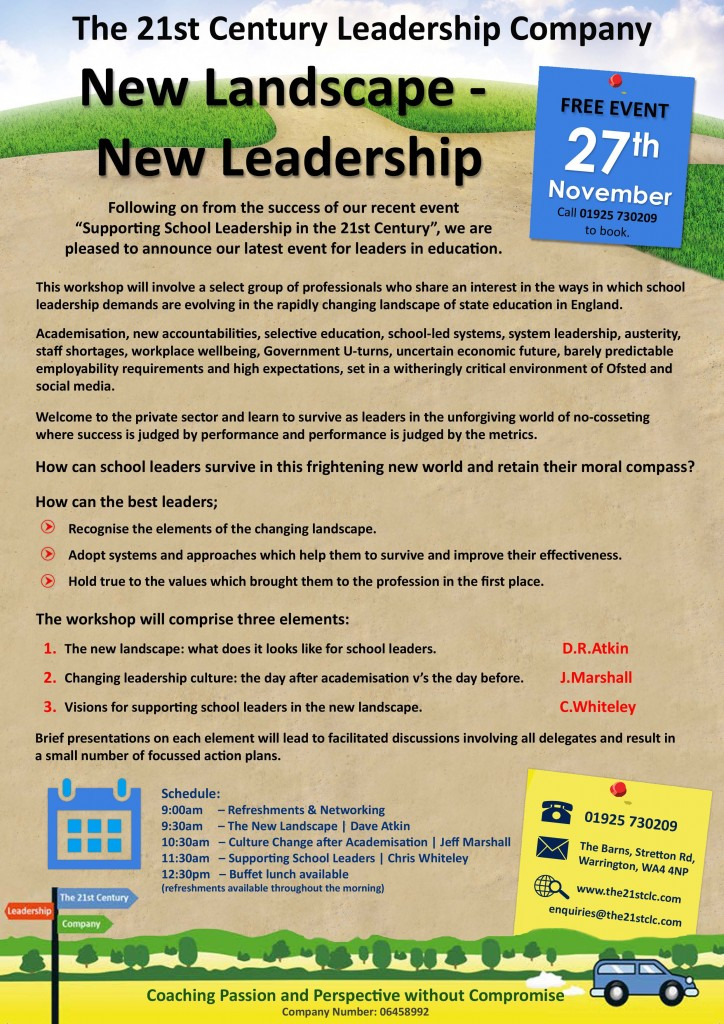 NEW LANDSCAPES NEW LEADERSHIP 27th